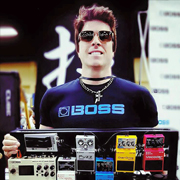 Mike Himmel at the South Carolina Guitar Show for BOSS/Roland
