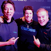 Yoshi Ikegami (CEO of BOSS), Mike Himmel, Jay Wanamaker (CEO of Roland US)