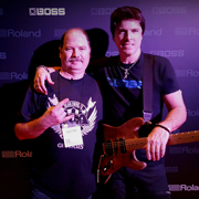 Guitar tech extraorinaire, Wayne Stoll and Mike Himmel